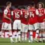 Ausgelassene Freude bei den Gunners nach dem Cup-Erfolg über Manchester City