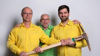 Haring Gartenbau, von links: Aurel Schrott, Heinz Niggeler und Dominik Gloor