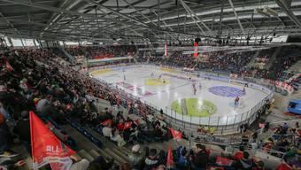 Beim Comeback der Schweizer Eishockey-Nationalmannschaft in der Basler St. Jakob-Arena sorgten 4126 Zuschauer für gute Stimmung.Keystone