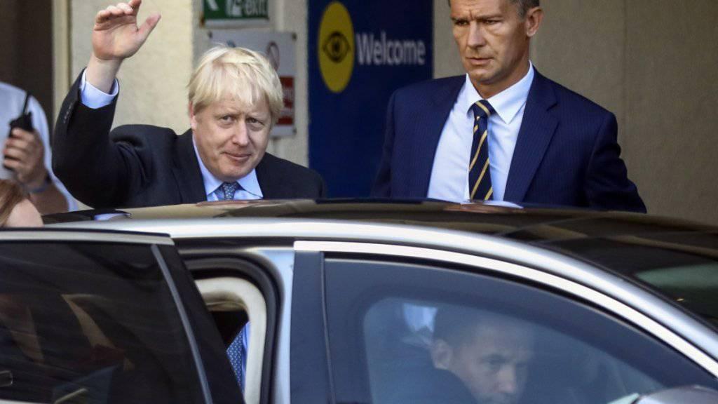 Der britische Premierminister Boris Johnson wirbt in einem Brief an EU- Ratspräsident Donald Tusk Änderungen am Brexit-Abkommen verlangt. Dabei soll der sogenannte Backstop für Irland gestrichen werden. (Foto: Simon Dawson/EPA)