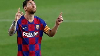 """25 Tore in """"La Liga"""": Lionel Messi ist zum vierten Mal in Serie Torschützenkönig in Spanien"""