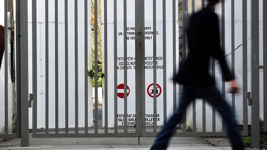 An der UNO-Pufferzone in der geteilten Stadt Nikosia. (Archivbild)