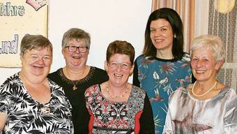 Gaby Weiss, Maria Obrist, Caroline Schraner, Jasmin Meier und Erika Schraner (v.l.) bilden derzeit den Vorstand des Frauenbunds.