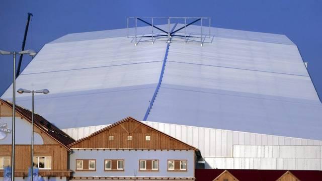 In so einer Halle wird eine Ski-WM ausgetragen