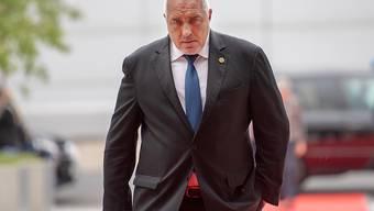 ARCHIV - Bojko Borissow, Ministerpräsident von Bulgarien, kommt zum Westbalkan-Gipfel. Foto: Monika Skolimowska/dpa-Zentralbild/dpa