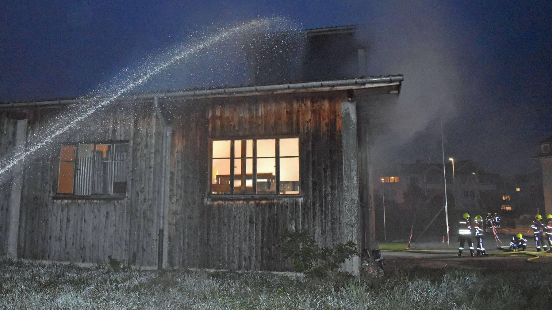 In Buttisholz kam es Anfang Oktober in einer Scheune zum Brand.