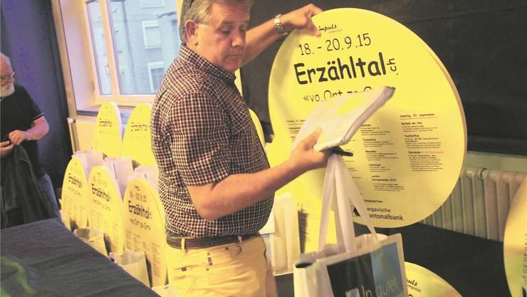 Felix Matthias ist Erzähltal-Botschafter in Menziken.