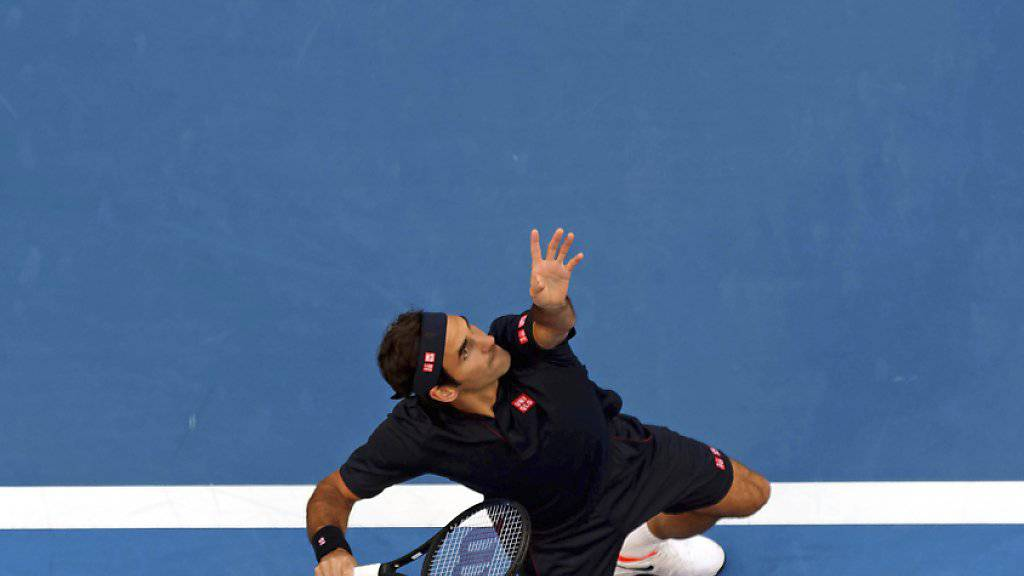 Roger Federer wurde am Hopman Cup in Perth erstmals richtig gefordert