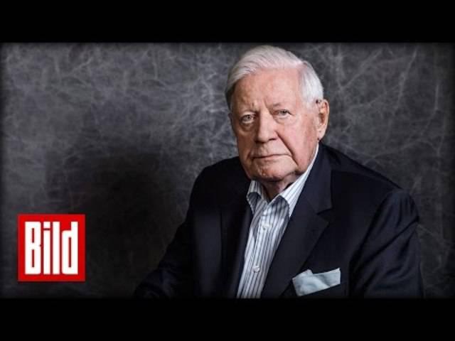 Juni 2015: Altkanzler Helmut Schmidt im «Bild»-Interview – «Europa wird keine grossen Kriege mehr führen»