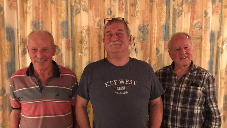 Eugen Hess, Pius Keusch und Werner Fischler (vlnr)