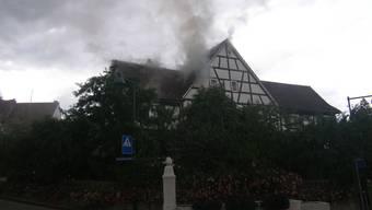 Brand in Bauernhaus in Oberwil (BL)