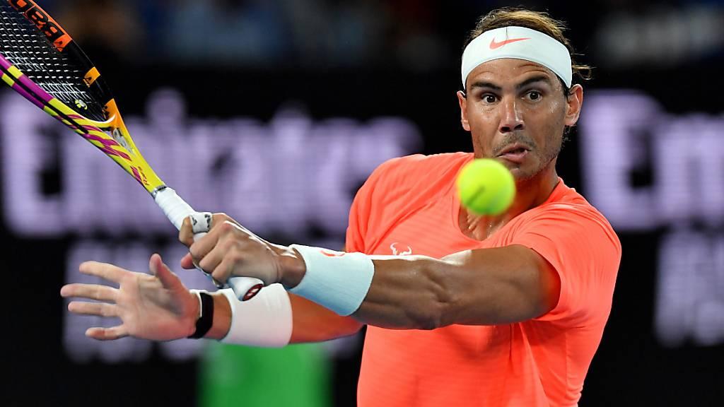 Rafael Nadal erreichte am Australian Open in Melbourne ohne Satzverlust die 3. Runde