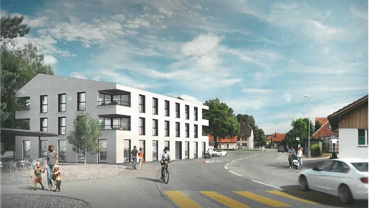 So sieht das geplante Wohn- und Gewerbehaus Linde aus.