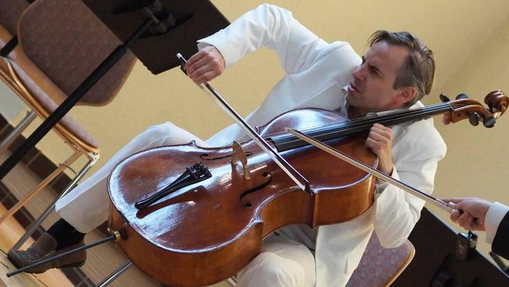 Alain Schudel zu Beginn des Zauberflöten-Konzerts