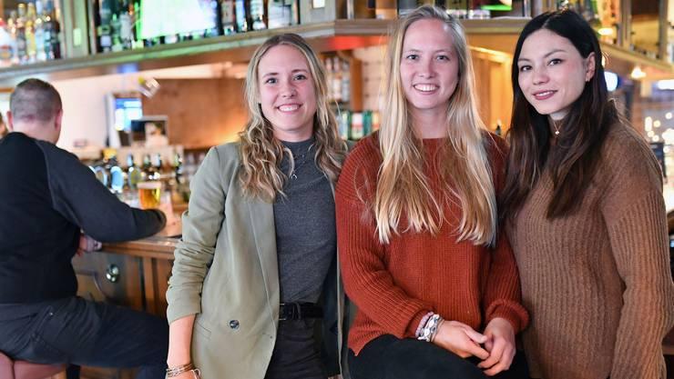 Die Damen von der Wandelbar: von links Finja Basan, Tabea Glinz und Nadine Schärer.