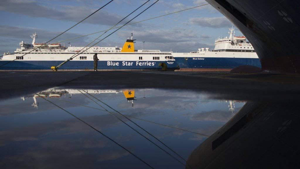 Griechische Seeleute streiken - Kein Fährverkehr am Mittwoch