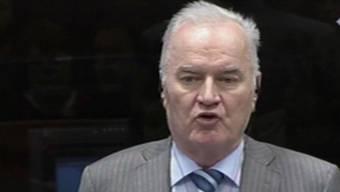 Ratko Mladic spricht vor dem Kriegsverbrechertribunal