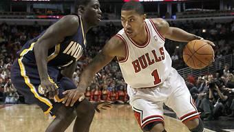 Derrick Rose (r.) von den Chicago Bulls