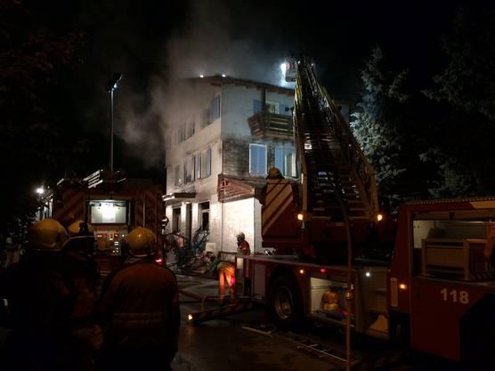 Die ausgerückte Feuerwehr hat den Brand löschen können