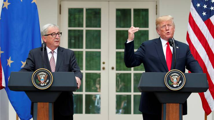 EU-Kommissionspräsident Jean-Claude Juncker (l.) und US-Präsident Donald Trump haben eine Einigung im Handelsstreit erzielt.Keystone