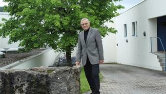 Josef Zimmermann in der sogenannten Gasse.