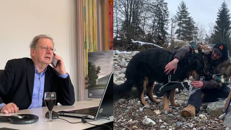 In Derendingen gibts zum Hilari ein Video. Nebst Ämmekracher-Präsident Florian Müller spielen Gemeindepräsident Kuno Tschumi und Hund Leo mit.