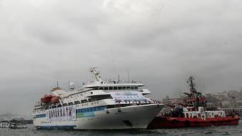 Die Mavi Marmara, das grösste Schiff der Hilfsflotte für Gaza (Archiv)