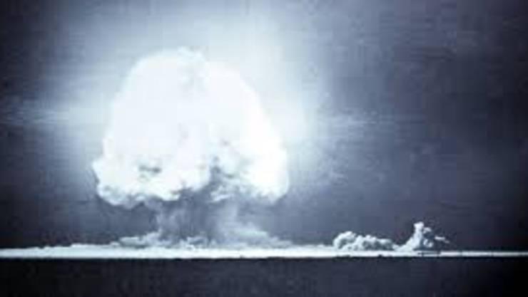 Die allererste nukleare Explosion: Der Trinity-Test auf dem Gelände der White Sands Missile Range in New Mexico.