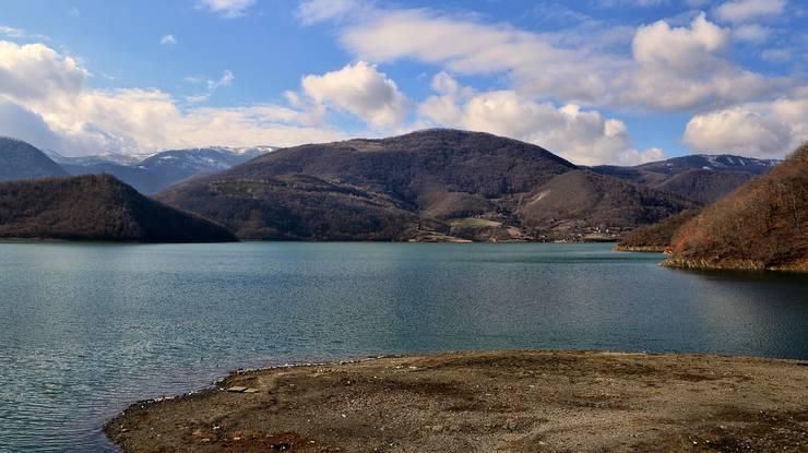 Der Gazivodastausee im Norden Kosovos versorgt 600'000 Kosovaren mit Trinkwasser.