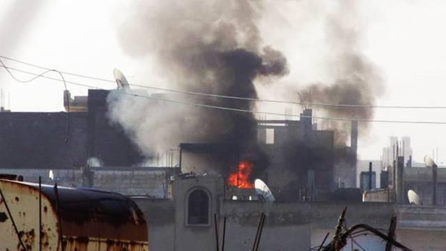 Szene der Gewalt im Quartier Baba Amro in Homs (Archiv)