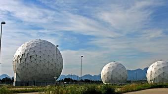 Abhörnantennen des deutschen Bundesnachrichtendienstes in Bad Aibling (Archiv)