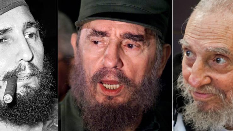 """""""Comandante"""" Fidel Castro: Als Anführer einer Guerillatruppe stürzte er Diktator Batista und baute anschliessend Kuba in einen sozialistischen Staat um. Mittlerweile lebt der 90-Jährige zurückgezogen."""