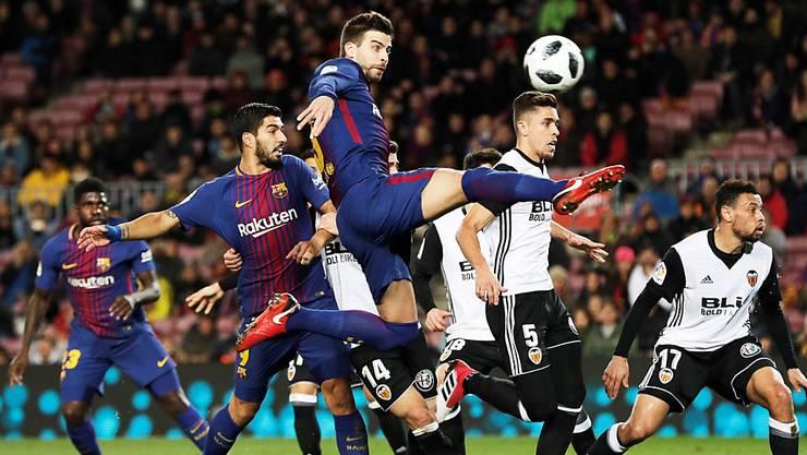 Gerard Piqué wahrte mit seinem Treffer die Ungeschlagenheit des FC Barcelona in der Meisterschaft