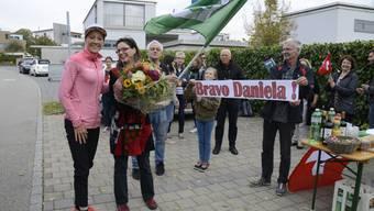 Triathletin Daniela Ryf wird in Feldbrunnen-St. Niklaus empfangen