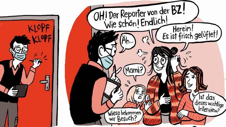 Ein Ausschnitt aus dem Comic von Kati Rickenbach