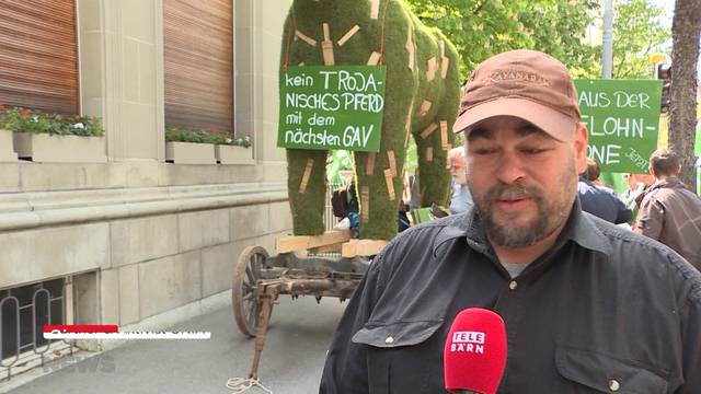 Gärtner protestieren gegen den Jardin Suisse