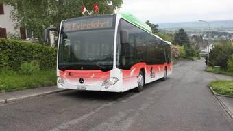 Neuer BGU-Gasbus auf Jungfernfahrt. Punkto Nachhaltigkeit ist der BGU top, beim Service entdeckte der Tester noch Mängel. at