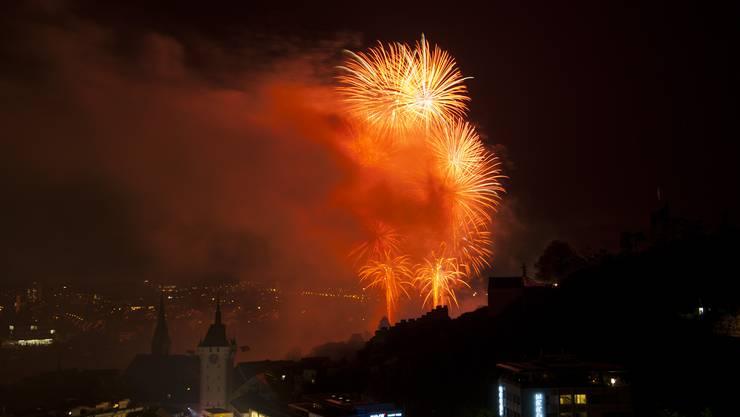 Spektakuläres Feuerwerk zum Abschluss