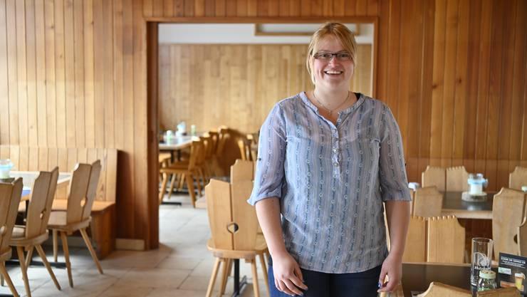 Silvana Kaufmann in der neuen Gaststube - ohne Gäste