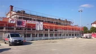 Die Sanierung der Propsteiturnhalle in Klingnau wird im November noch nicht abgeschlossen sein.