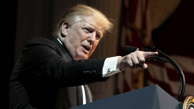 US-Präsident Donald Trump kritisiert am Sonntag erneut das Vorgehen in Syrien.