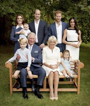 Dieses Familienfoto wurde im Vorfeld für Prinz Charles 70. Geburtstag aufgenommen.