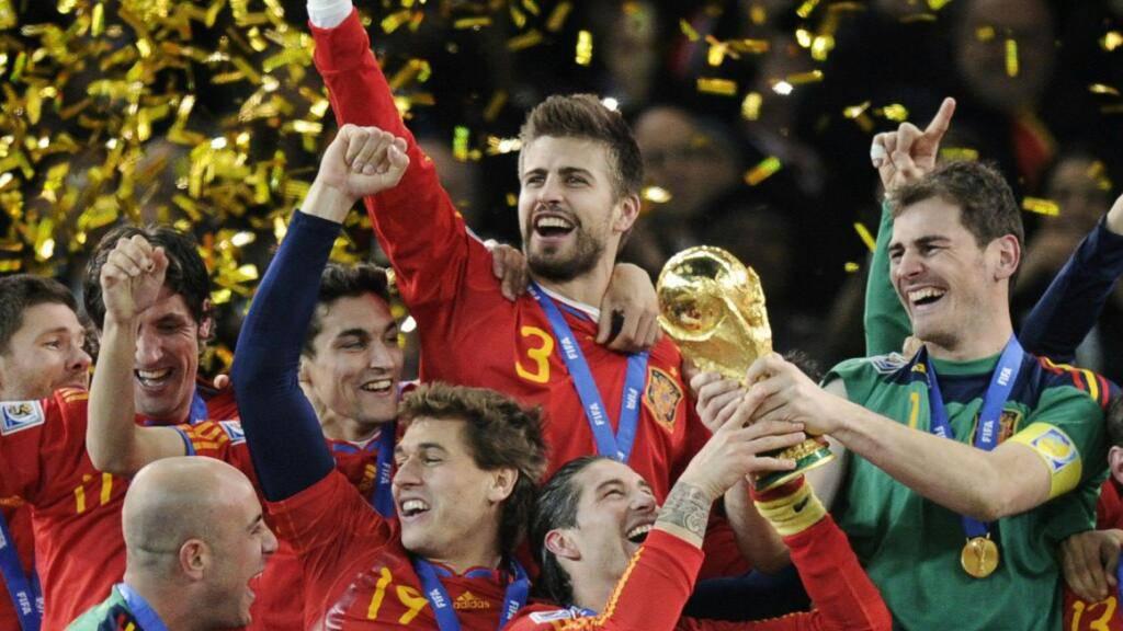 Spaniens Fussballer in Ekstase nach dem WM-Triumph 2010