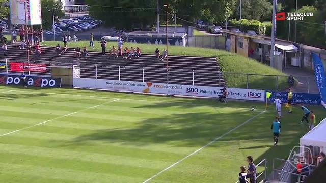 Challenge League, 2017/18, 36. Runde, FC Aarau – FC Vaduz, Pfostenschuss Nils von Niederhäusern