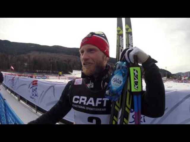Martin Johnsrud Sundbys Interview nach dem Tour-de-Ski-Sieg 2015