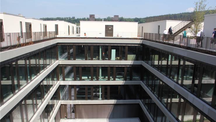 Auf der fünften Etage des Campus-Neubaus befindet sich ein modernes Quartier mit 48 hellen Mietwohnungen und 4 Ateliers sowie einer gemeinsamen Dachterasse.