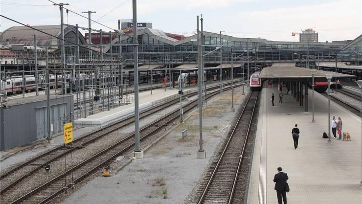 Wird wohl noch viele Jahr so aussehen: Das westliche Gleisvorfeld am Basler Bahnhof SBB.Eva Wieser