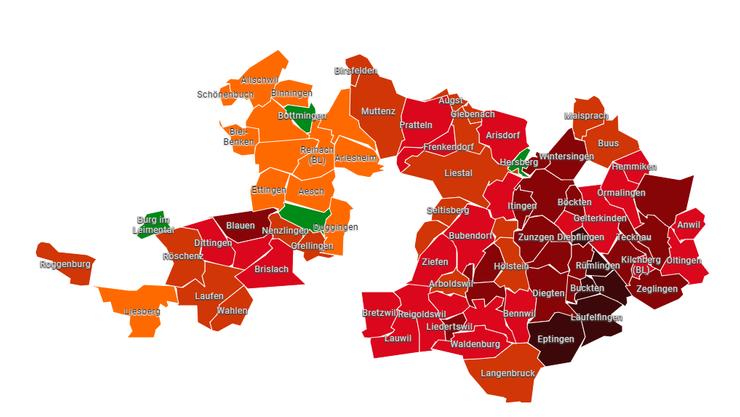 Nur vier Gemeinden im Baselbiet sagten Ja zur Stilllegung der S-Bahn-Linie 9. Im Oberbaselbiet fällt das Nein wenig überraschend deutlicher aus als im Unterbaselbiet.