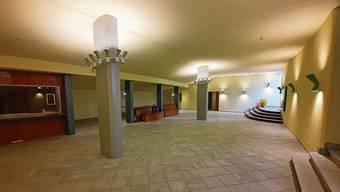 So präsentiert sich das fast schon fertige Entrée des Kurtheaters in Baden, das im Oktober eröffnet werden soll.