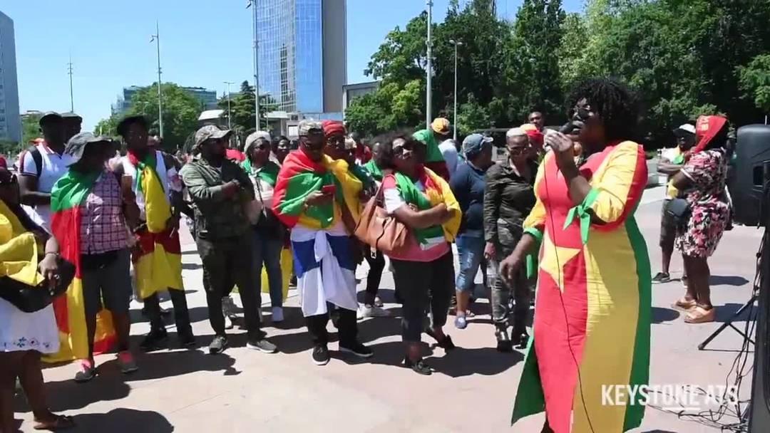 Genf: Zusammenstösse zwischen Polizei und kamerunischen Demonstranten